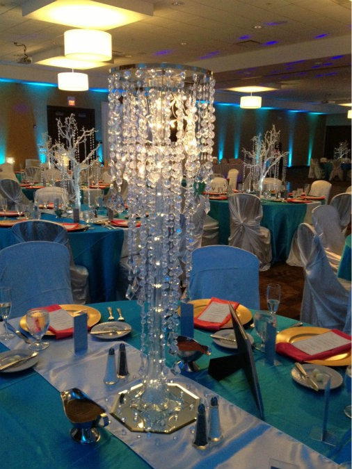 Weddings crystal bloom centerpiece decor rental we work together with local florists of your choosing for flower arrangements added to our centerpieces mozeypictures Choice Image